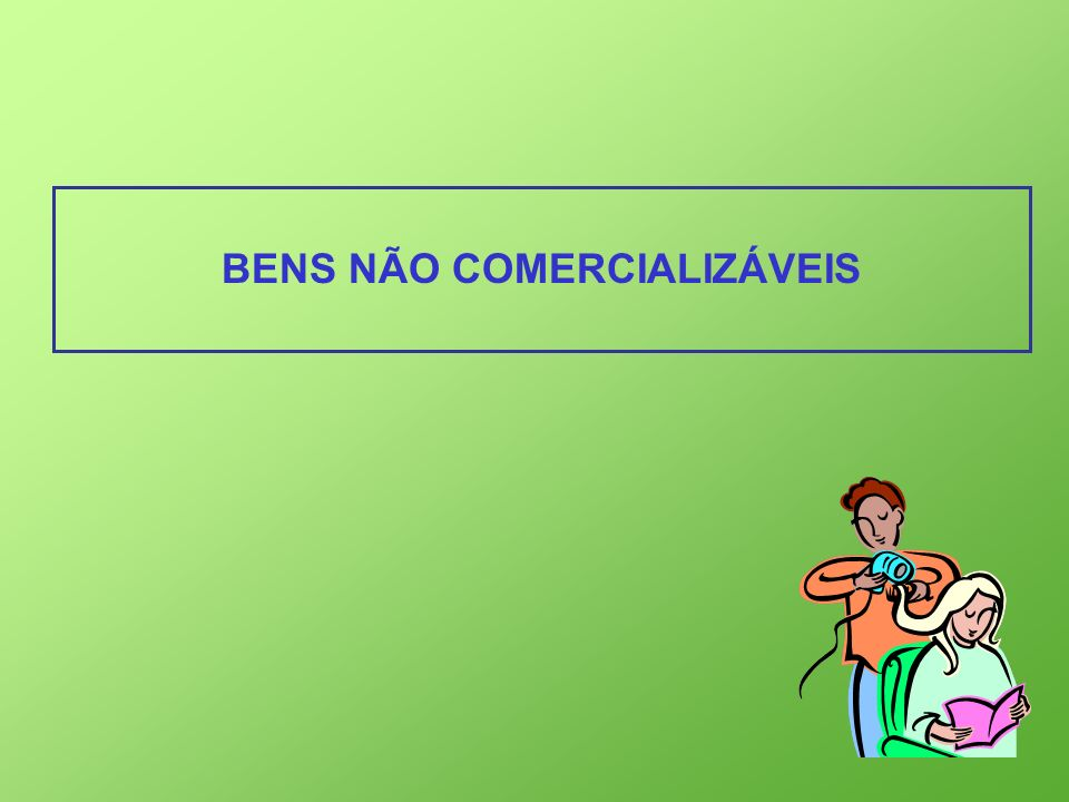 BENS NÃO COMERCIALIZÁVEIS