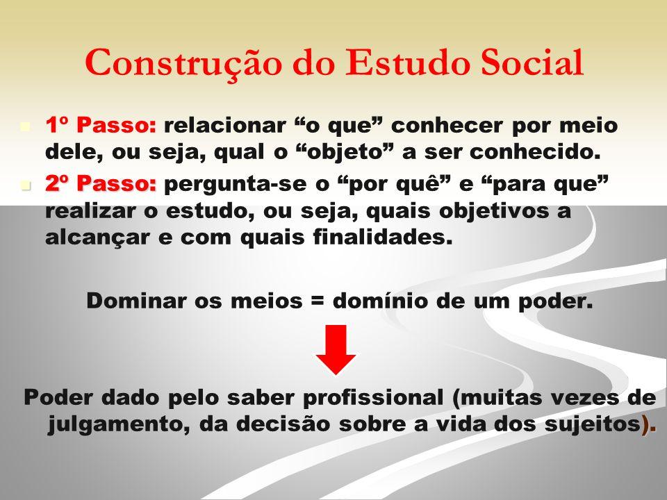 Construção do Estudo Social
