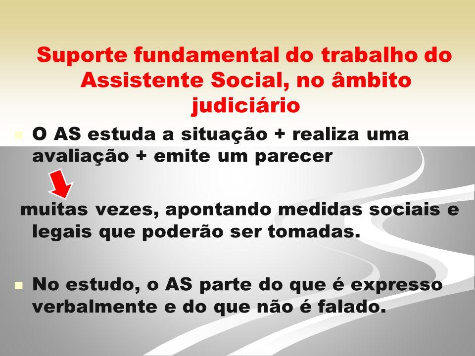 Suporte fundamental do trabalho do Assistente Social, no âmbito judiciário