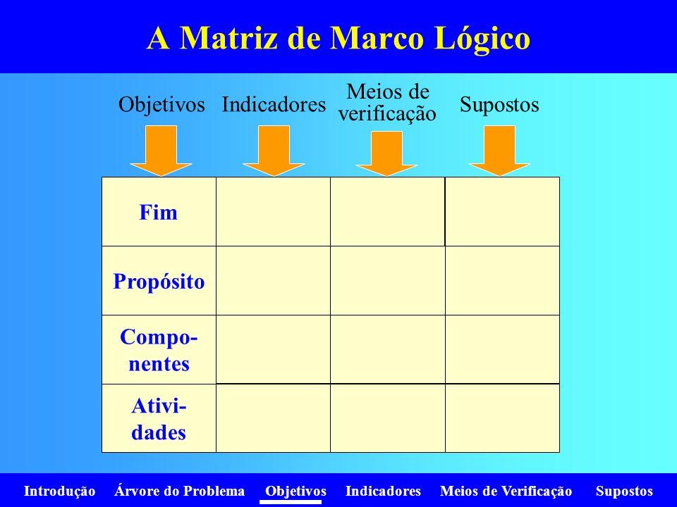A Matriz de Marco Lógico