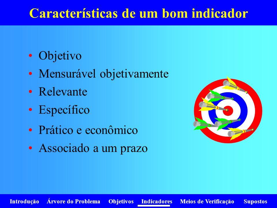Características de um bom indicador