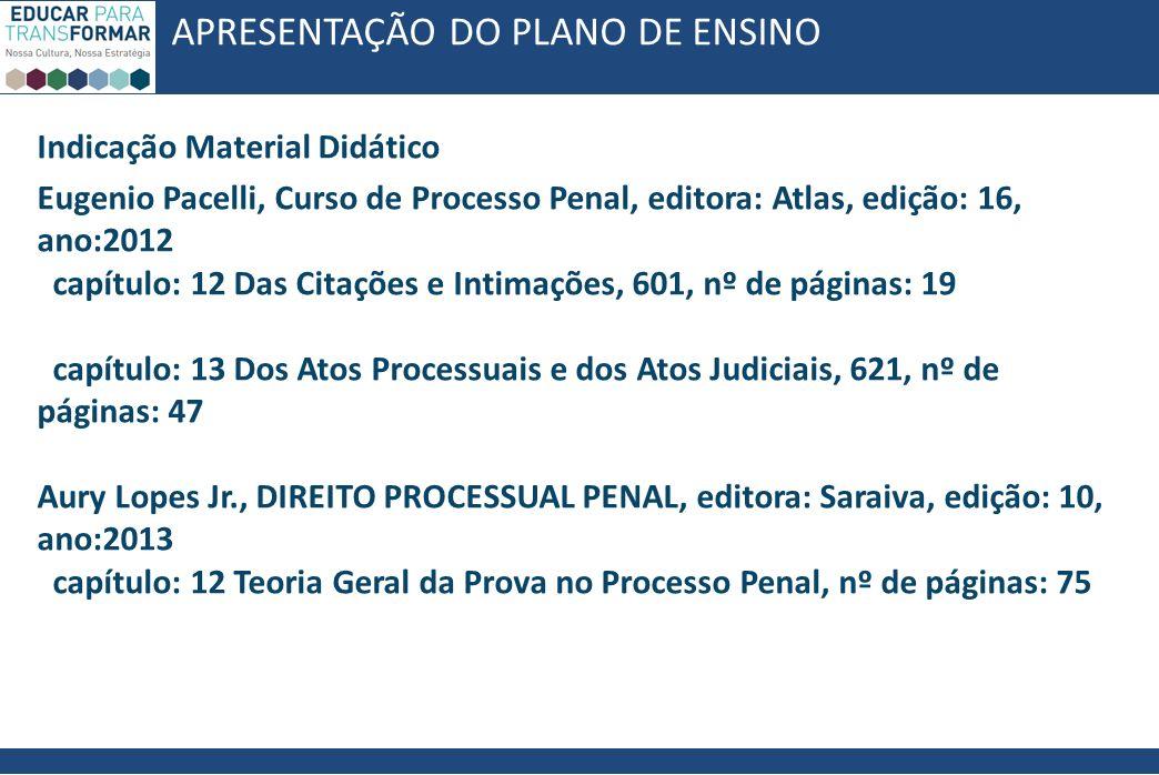 eugenio pacelli curso de processo penal pdf