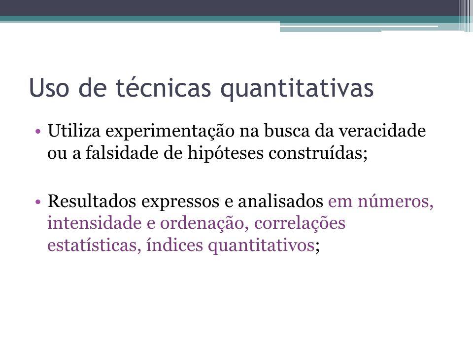 Uso de técnicas quantitativas