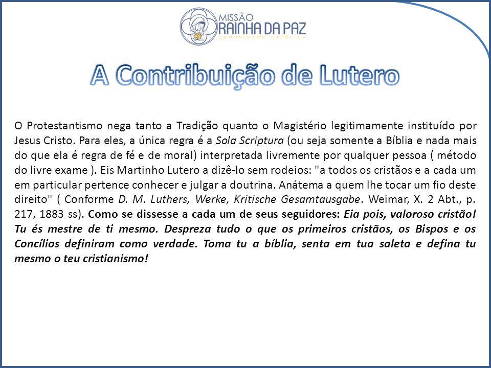 A Contribuição de Lutero