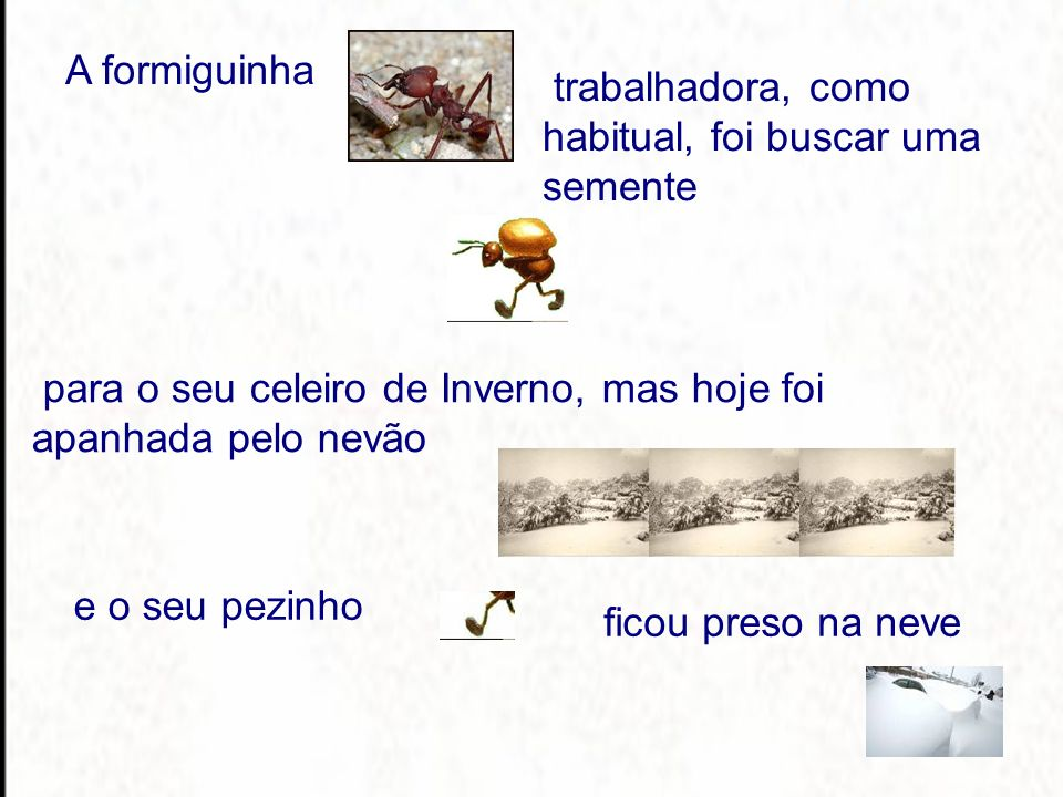 A formiguinha e o seu pezinho