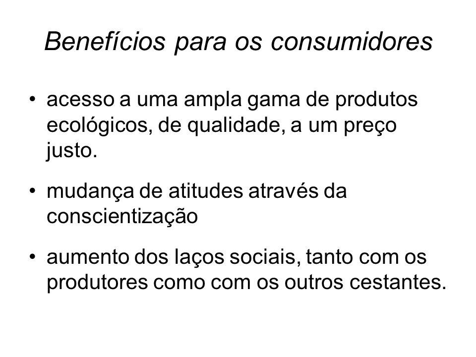 Benefícios para os consumidores