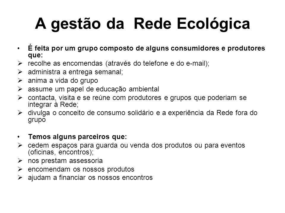 A gestão da Rede Ecológica