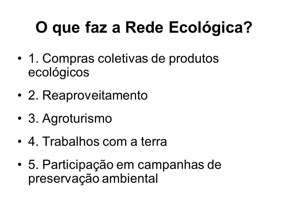 O que faz a Rede Ecológica