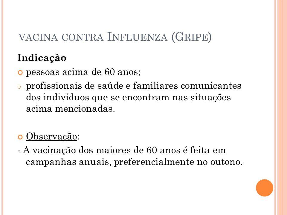 vacina contra Influenza (Gripe)