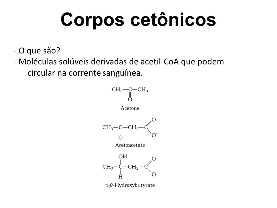 Corpos cetônicos Corpos Cetônicos - O que são
