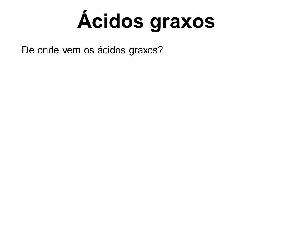 Ácidos graxos De onde vem os ácidos graxos