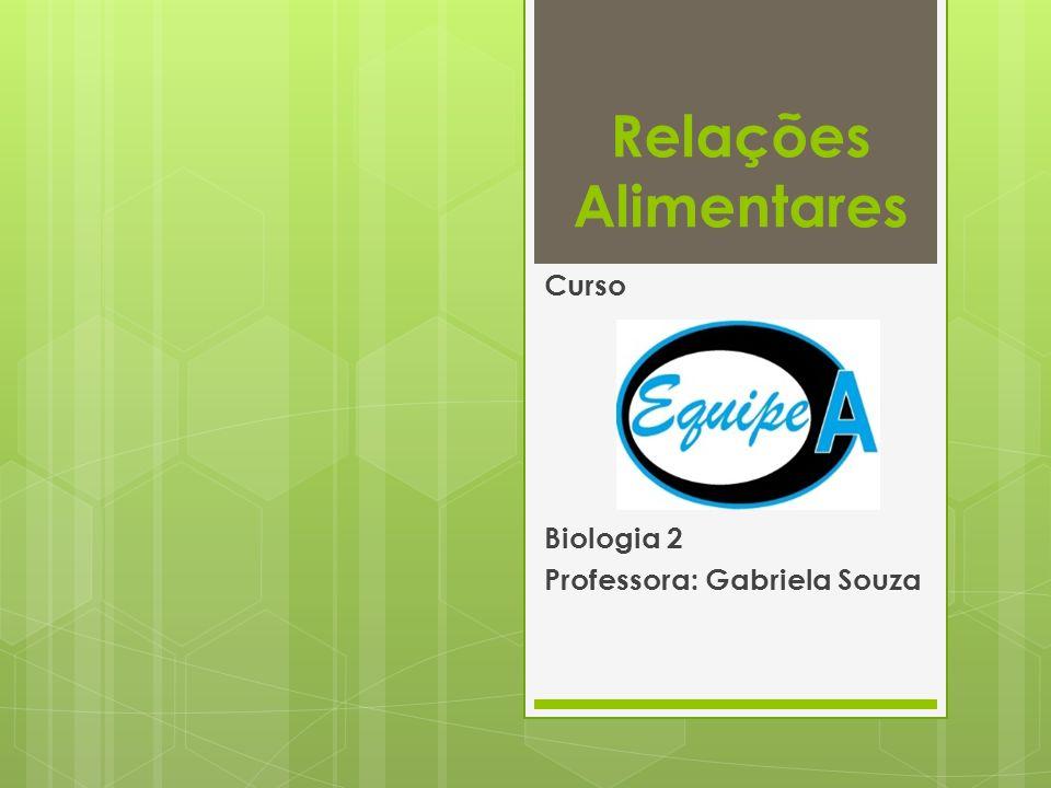 Curso Biologia 2 Professora: Gabriela Souza