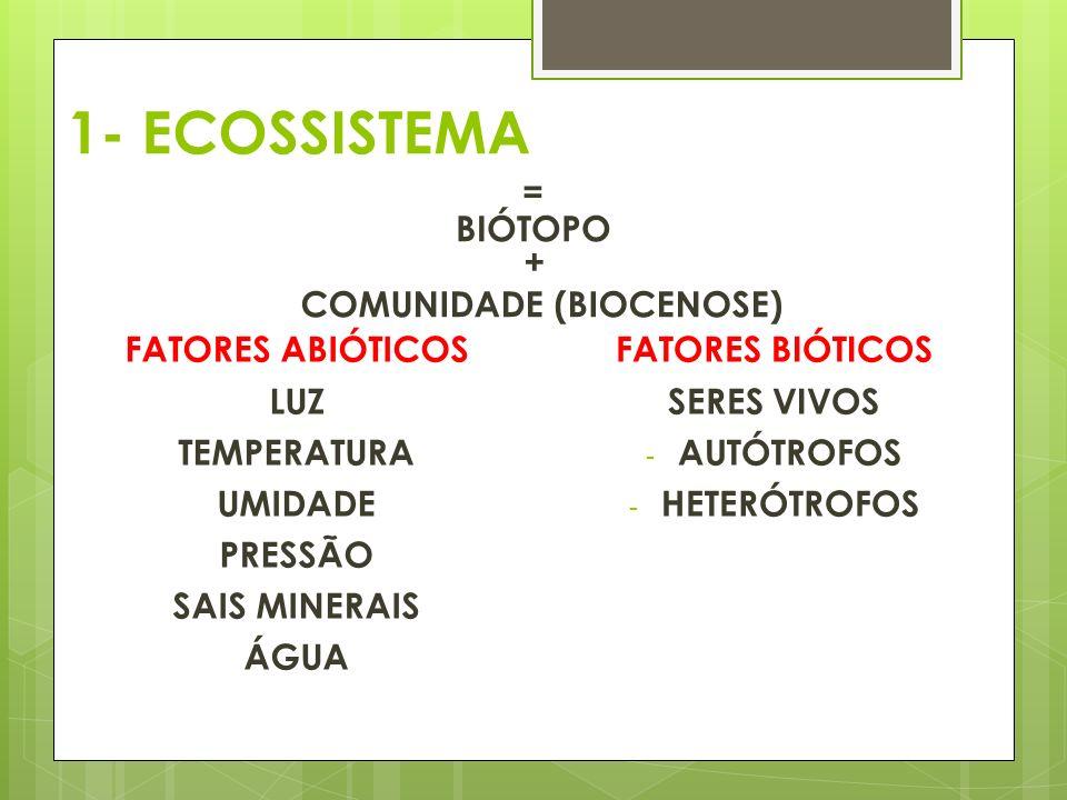 COMUNIDADE (BIOCENOSE)