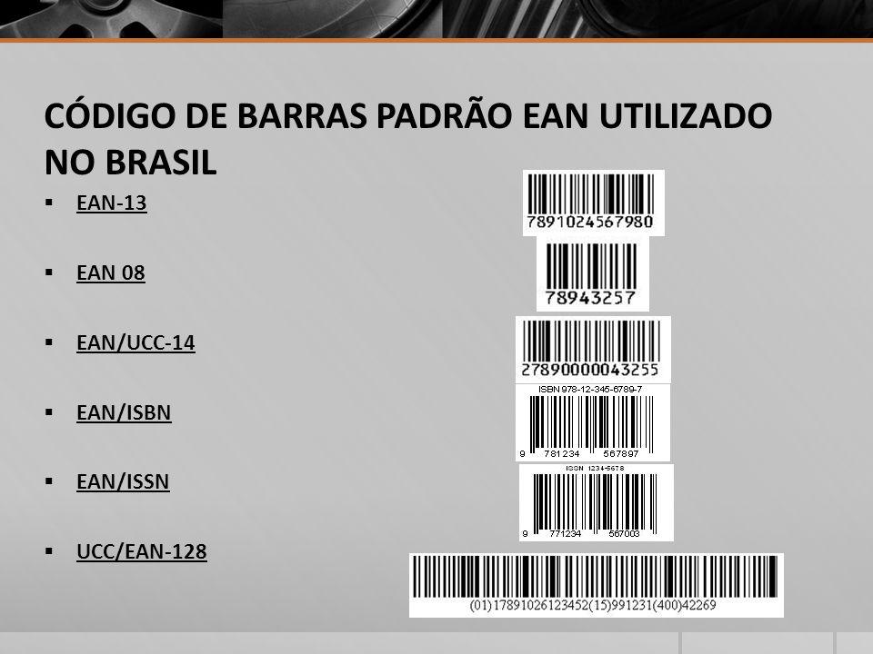 CÓDIGO DE BARRAS PADRÃO EAN UTILIZADO NO BRASIL
