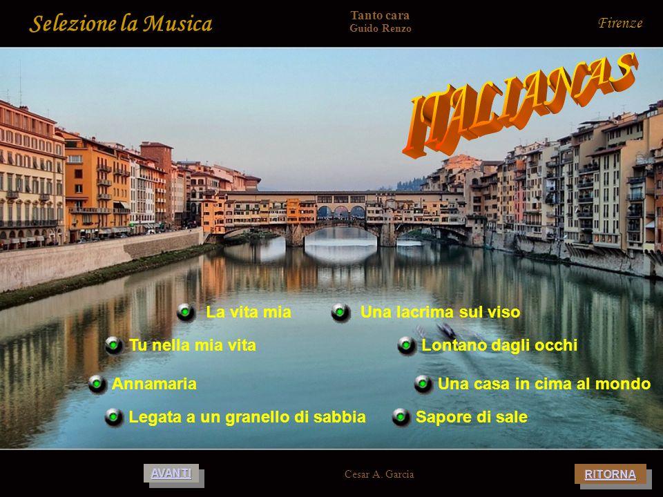 ITALIANAS Selezione la Musica Firenze La vita mia Una lacrima sul viso