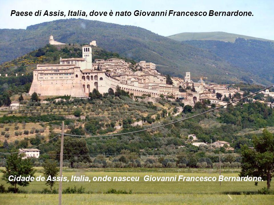 Paese di Assis, Italia, dove è nato Giovanni Francesco Bernardone.