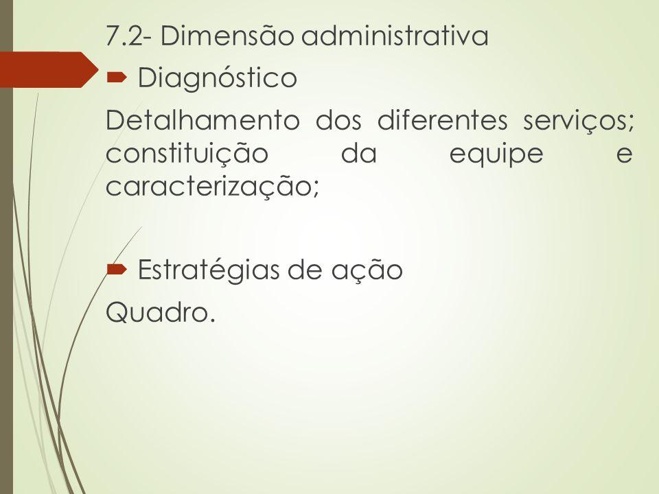 7.2- Dimensão administrativa