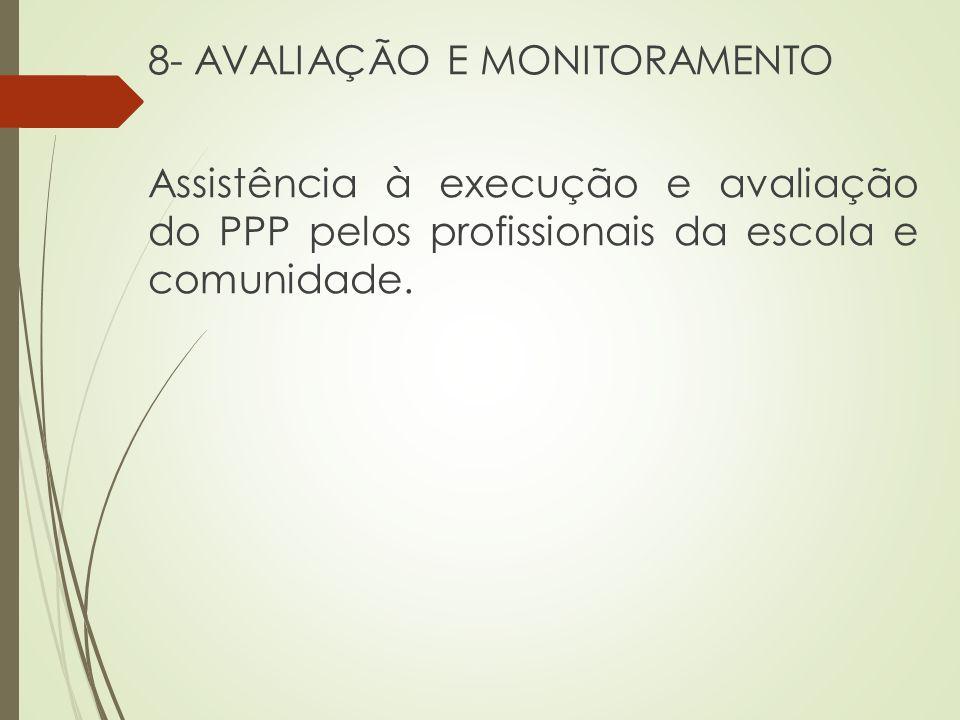 8- AVALIAÇÃO E MONITORAMENTO