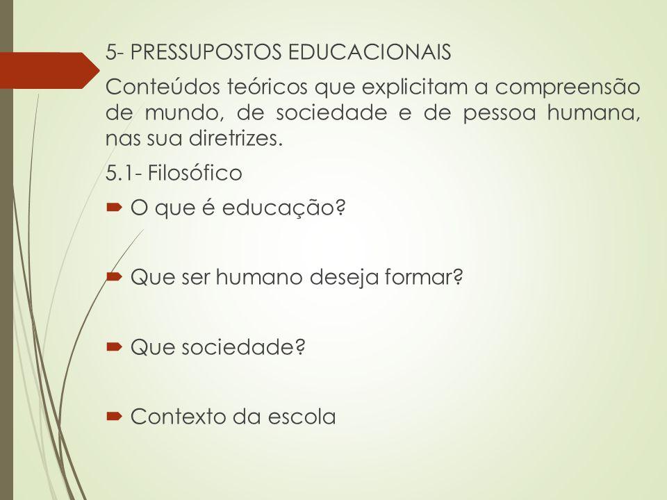 5- PRESSUPOSTOS EDUCACIONAIS