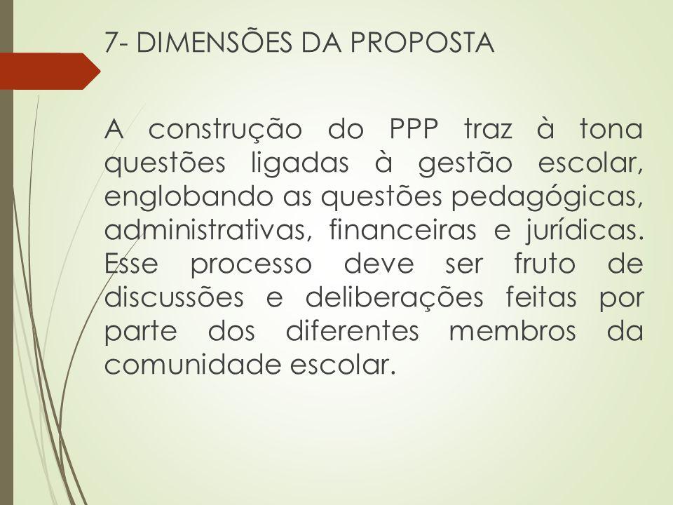 7- DIMENSÕES DA PROPOSTA