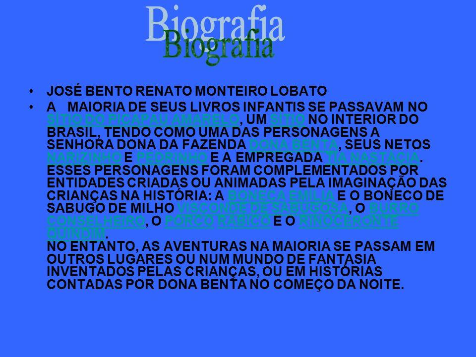 Biografia JOSÉ BENTO RENATO MONTEIRO LOBATO