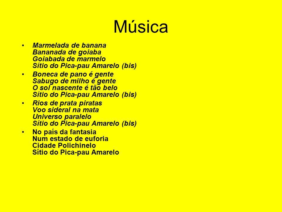 Música Marmelada de banana Bananada de goiaba Goiabada de marmelo Sítio do Pica-pau Amarelo (bis)