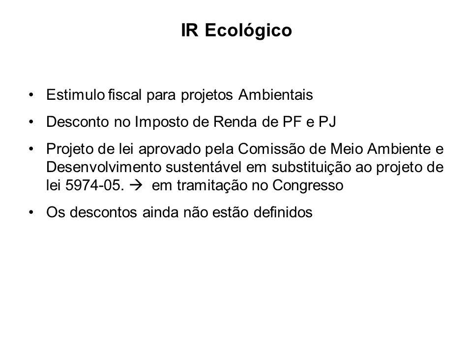 IR Ecológico Estimulo fiscal para projetos Ambientais