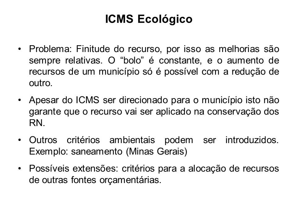 ICMS Ecológico