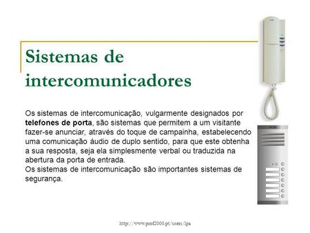 Sistemas de intercomunicadores