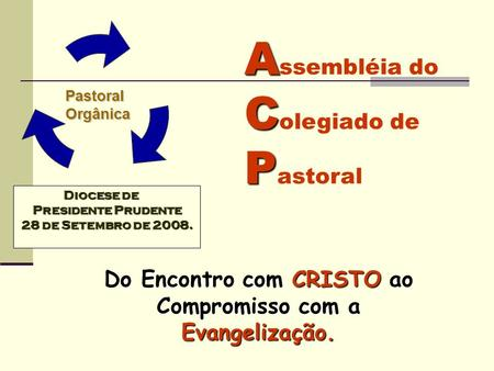 Do Encontro com CRISTO ao