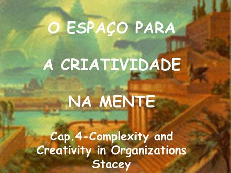 Cap.4-Complexity and Creativity in Organizations