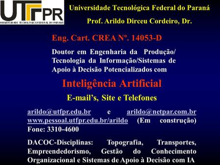 Inteligência Artificial  's, Site e Telefones