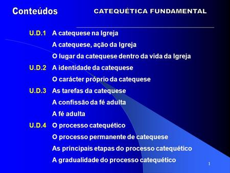 CATEQUÉTICA FUNDAMENTAL