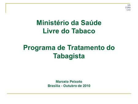 Programa de Tratamento do Tabagista