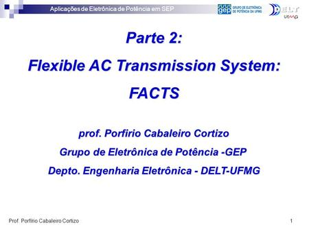 Parte 2: Flexible AC Transmission System: FACTS