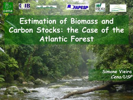 Estimation of Biomass and Carbon Stocks: the Case of the Atlantic Forest Simone Vieira Cena/USP.