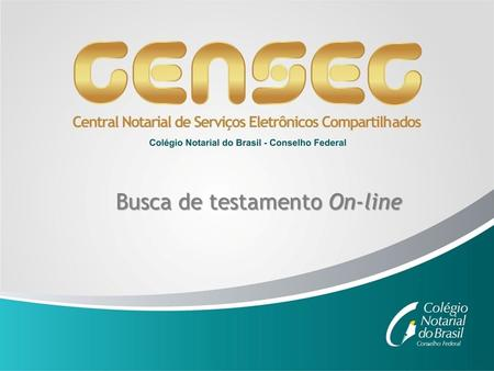 Busca de testamento On-line