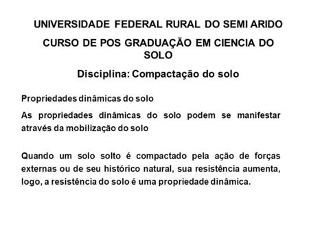 UNIVERSIDADE FEDERAL RURAL DO SEMI ARIDO