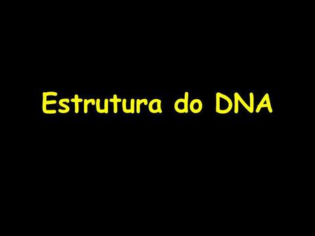 Estrutura do DNA.