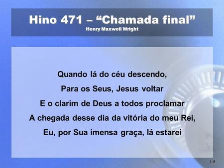 """Hino 357 – """"Falai de Cristo"""" Henry Maxwell Wright - ppt carregar 00ac0affa793"""