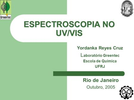 ESPECTROSCOPIA NO UV/VIS