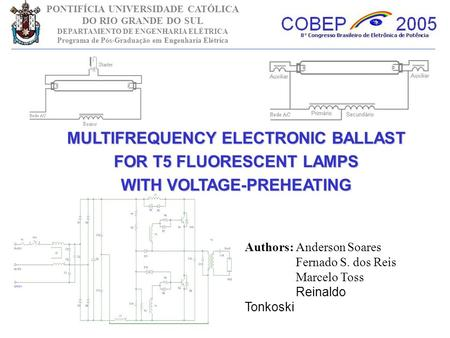 MULTIFREQUENCY ELECTRONIC BALLAST FOR T5 FLUORESCENT LAMPS