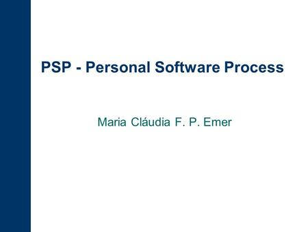 PSP - Personal Software Process