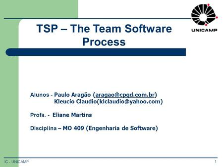 TSP – The Team Software Process