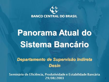 Departamento de Supervisão Indireta