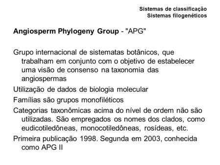 Sistema APG II
