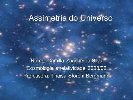 Assimetria do Universo
