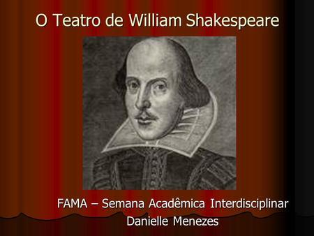O Teatro de William Shakespeare