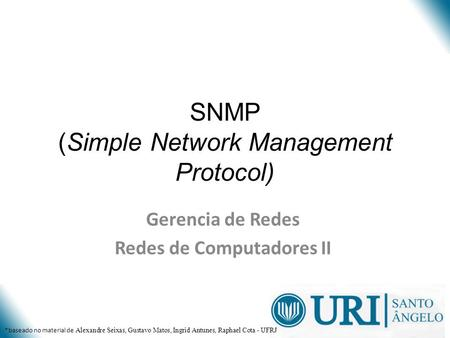 SNMP (Simple Network Management Protocol)