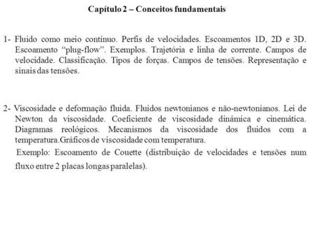 Capítulo 2 – Conceitos fundamentais